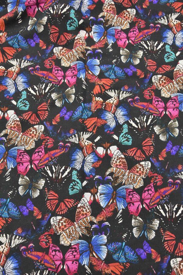 Лен бабочки на черном (2544) - Фото 7