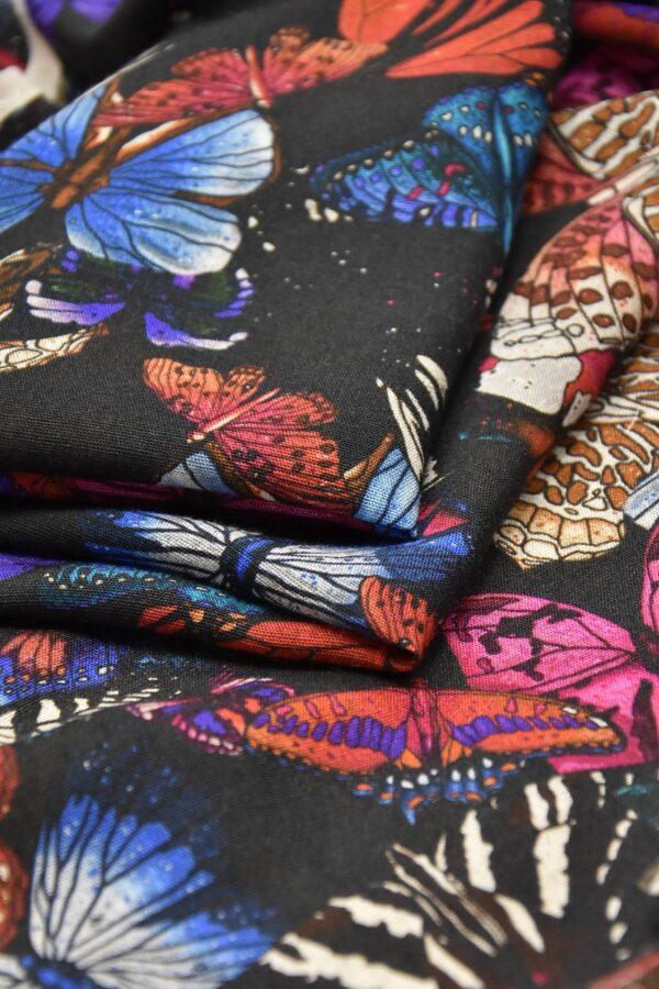Лен бабочки на черном (2544) - Фото 9