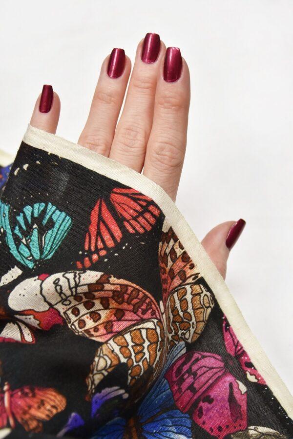 Лен бабочки на черном (2544) - Фото 10