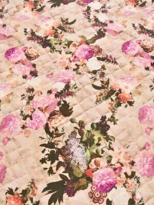 Шерсть розовые цветы (2553) - Фото 12
