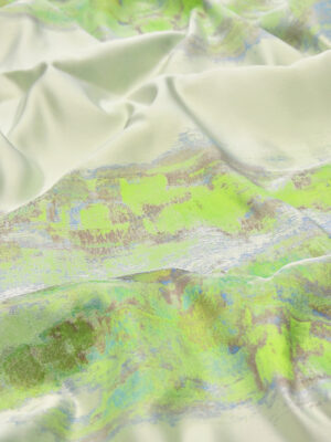 Атлас с вышивкой салатовый градиент (2581) - Фото 13