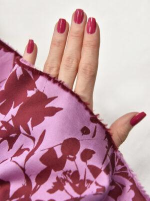 Тафта биюзовая лиловая цветы (3056) - Фото 16