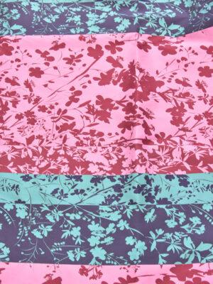 Тафта биюзовая лиловая цветы (3056) - Фото 15