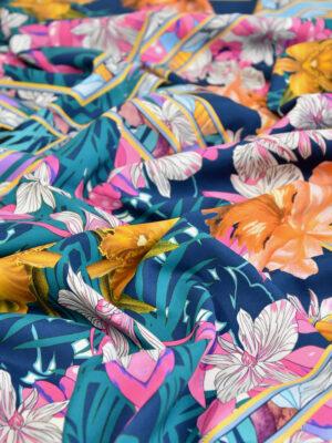 Крепдешин стрейч цветы калейдоскоп (3070) - Фото 16