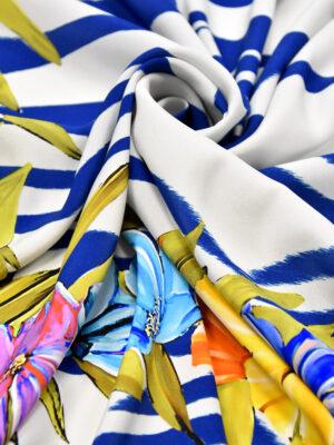Шелк купон платочный принт зебра цветы (3294) - Фото 29
