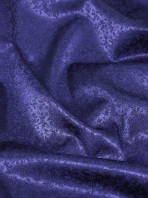 Кади стрейч темно синий мелкий цветочный узор (3314) - Фото 18