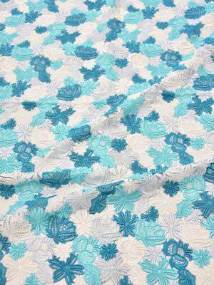 Кружево макраме голубые белые цветы (3330) - Фото 17