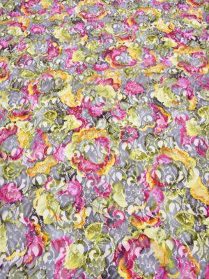 Кружево разноцветный цветочный рисунок (3348) - Фото 15