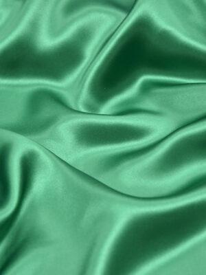 Шелк атласный зеленый изумрудный (3434) - Фото 13