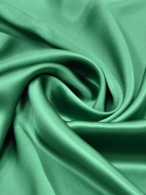 Шелк атласный зеленый изумрудный (3434) - Фото 14