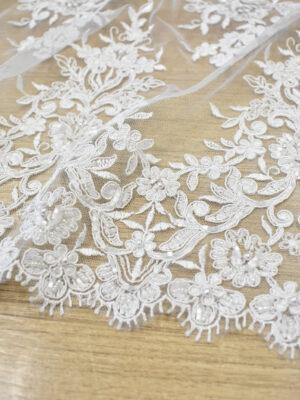 Кружево свадебное белое с роскошными фестонами (3561) - Фото 12