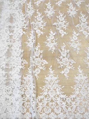 Кружево свадебное белое с роскошными фестонами (3561) - Фото 11