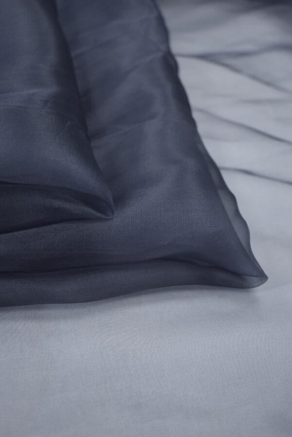 Органза шелк темно-синяя (3563) - Фото 8