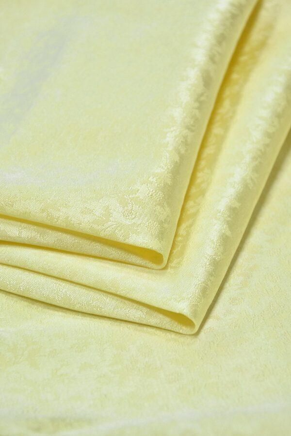 Кади стрейч желтый с мелкий цветочек (3595) - Фото 9