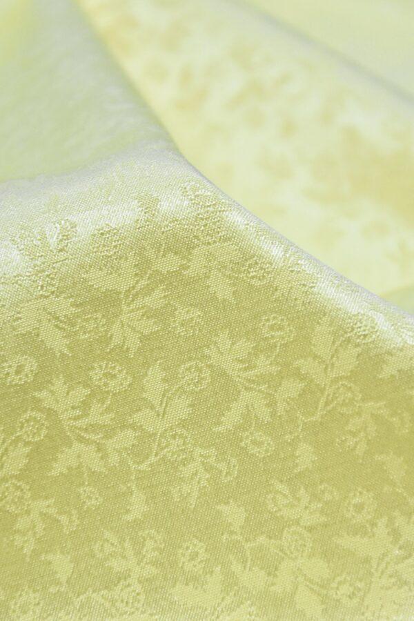 Кади стрейч желтый с мелкий цветочек (3595) - Фото 10