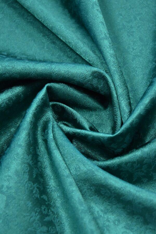 Кади стрейч зеленый цветочный узор (3597) - Фото 7