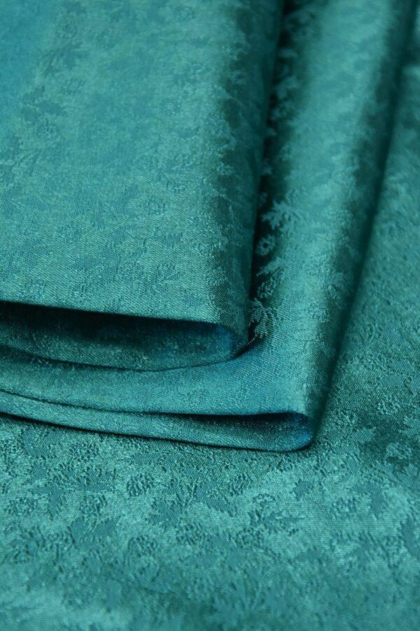 Кади стрейч зеленый цветочный узор (3597) - Фото 8
