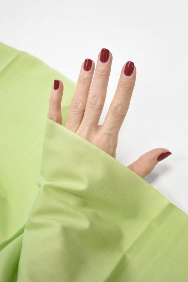 Хлопок рубашечный светлый салатовый оттенок (3601) - Фото 10