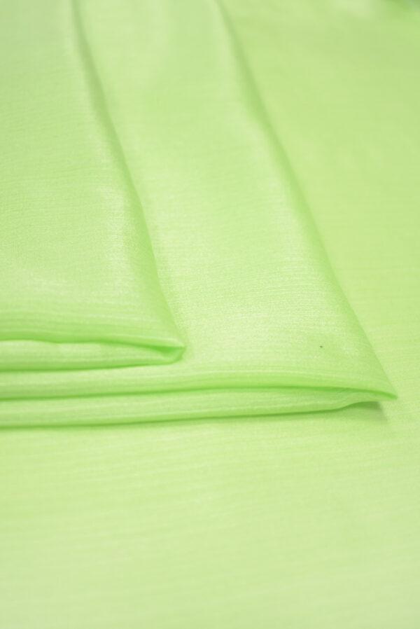 Крепон хлопок яркий салатовый (3611) - Фото 8