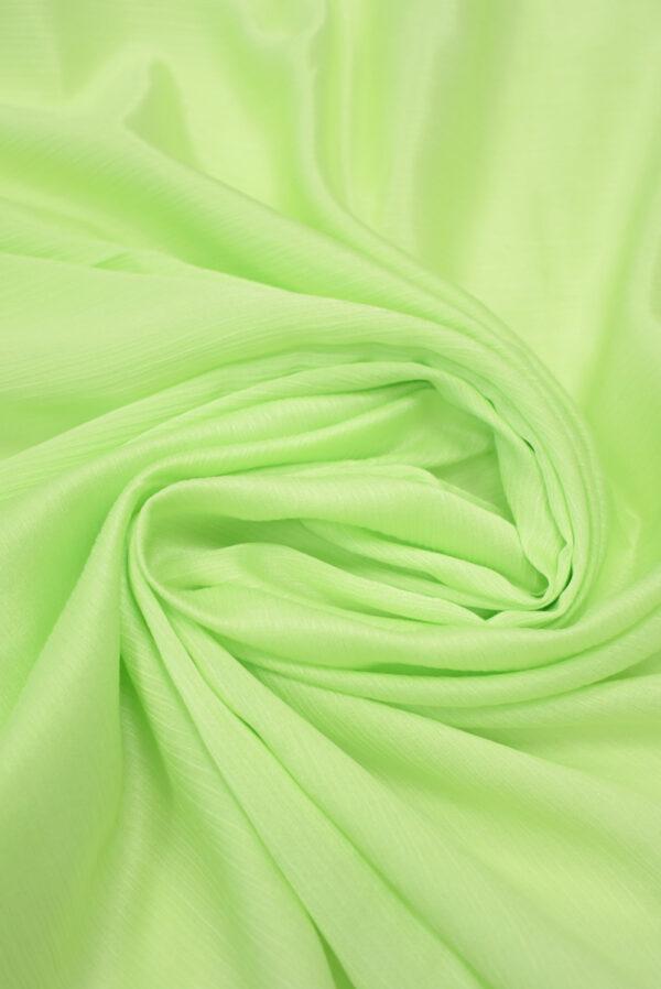 Крепон хлопок яркий салатовый (3611) - Фото 7