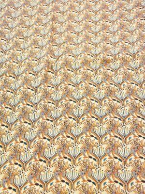 Твил растительный орнамент в теплых оттенках (3638) - Фото 10