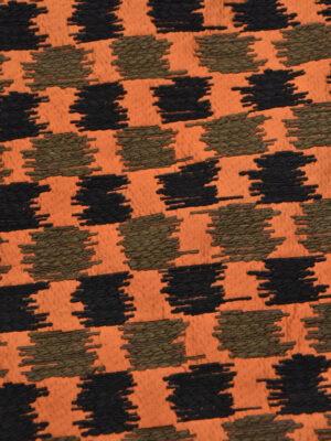 Жаккард букле терракотовый черный вышивка (3655) - Фото 13
