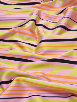 Тафта полоска розовая желтая оранжевая (3693) - Фото 12