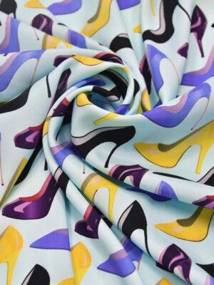 Шелк стрейч рисунок из туфлей (3715) - Фото 11