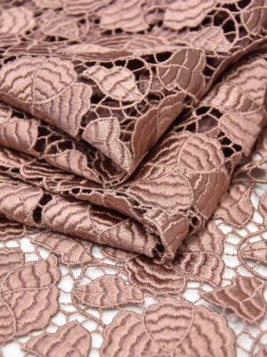 Кружево макраме цветочный узор жемчужно розовый (3772) - Фото 14