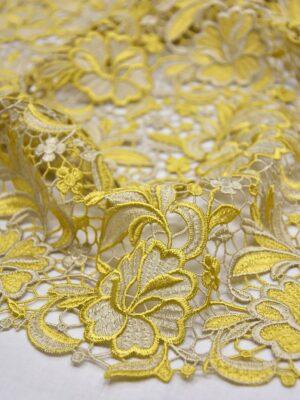 Кружево макраме цветочный узор золото беж (3820) - Фото 18