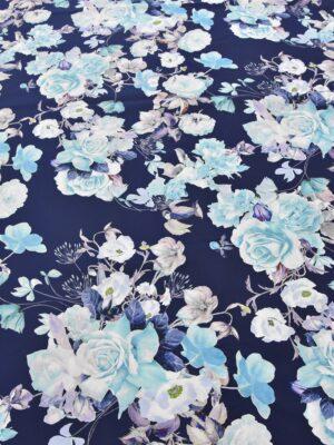 Плащевая голубые розы на синем (3883) - Фото 16