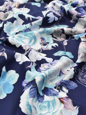 Плащевая голубые розы на синем (3883) - Фото 17