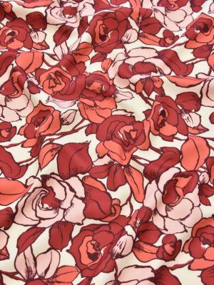 Джерси красные коралловые розы (3895) - Фото 8