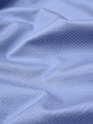Жаккард пике стрейч голубой в горох (3987) - Фото 13