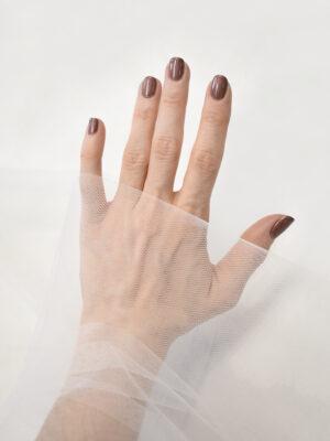 Фатин сетка теплый белый оттенок молочный (4004) - Фото 16