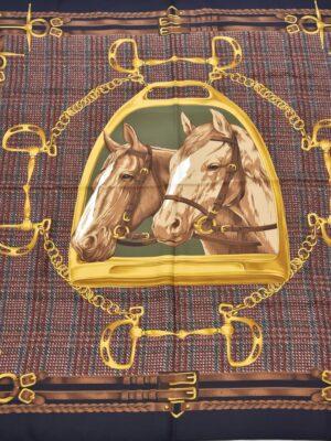 Платок шелковый скачки пололо лошади (4040) - Фото 21