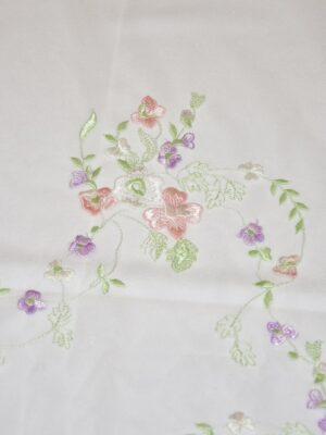 Вышивка на сетке цветочный узор (4058) - Фото 18