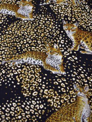 Шелк стрейч кошки леопард (4101) - Фото 17