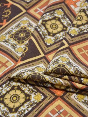 Кашемир шерсть платочный принт ромбы (4112) - Фото 19