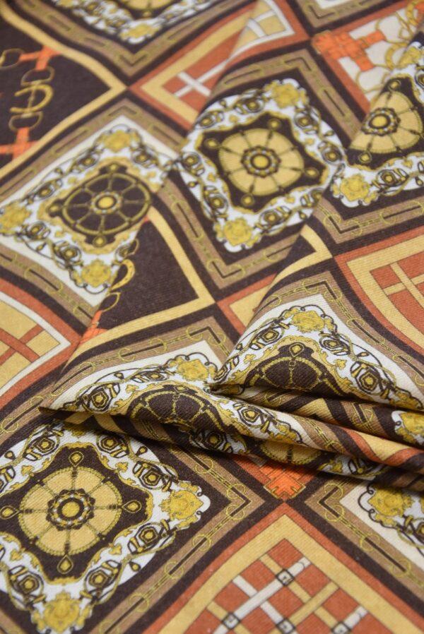 Кашемир шерсть платочный принт ромбы (4112) - Фото 7