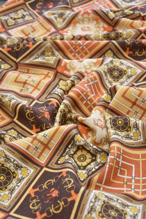 Кашемир шерсть платочный принт ромбы (4112) - Фото 11