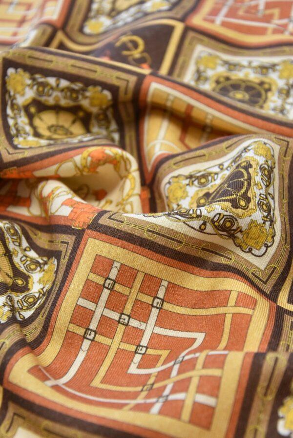 Кашемир шерсть платочный принт ромбы (4112) - Фото 9