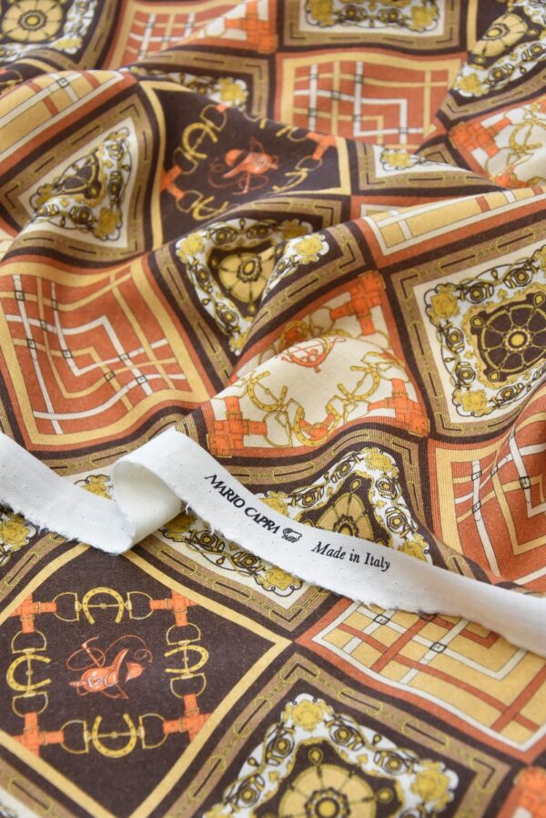 Кашемир шерсть платочный принт ромбы (4112) - Фото 8