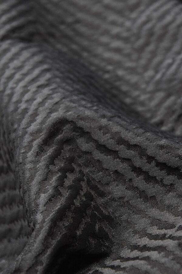 Жаккард купон серый в елочку цветочный бордюр (4215) - Фото 10