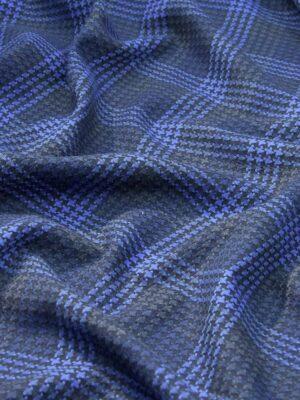 Костюмная клетка серая с синим (4248) - Фото 17