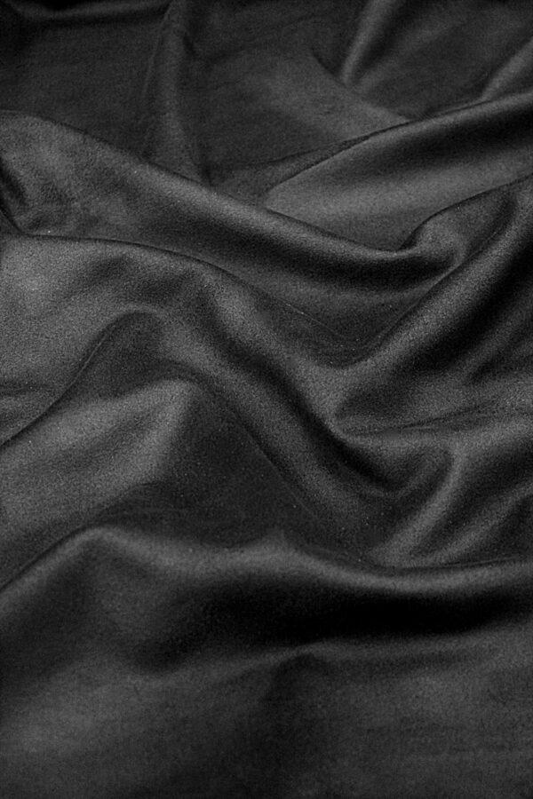 Экозамша стрейч черная (4290) - Фото 6