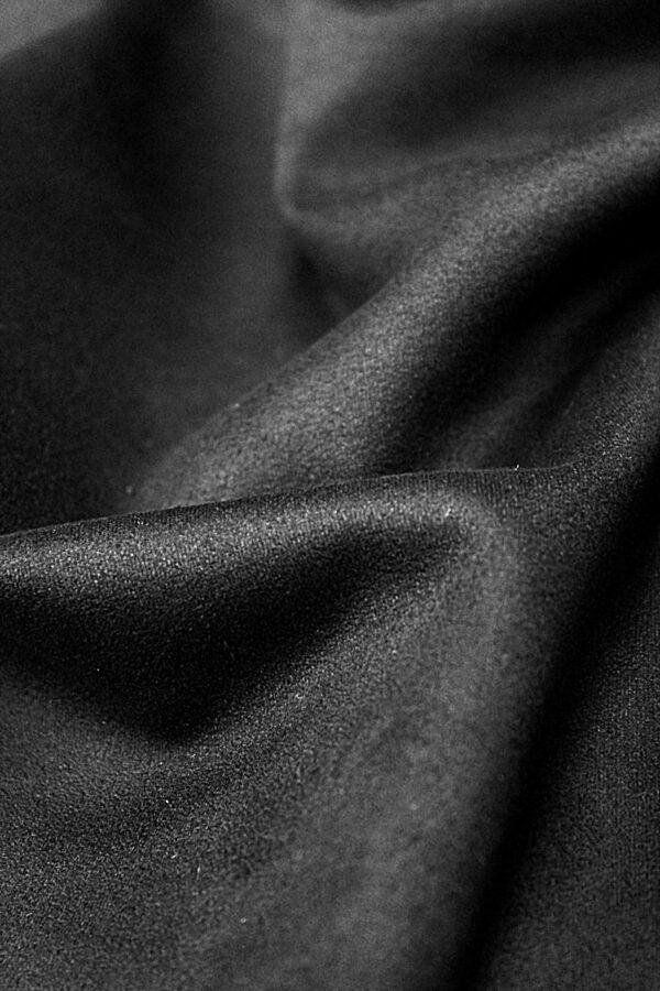 Экозамша стрейч черная (4290) - Фото 9