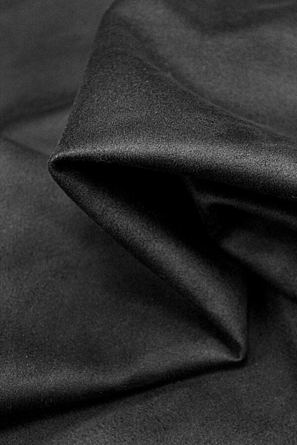 Экозамша стрейч черная (4290) - Фото 8