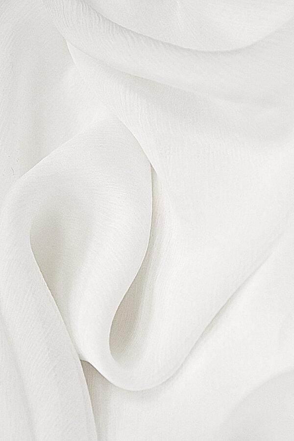 Шифон креш шелк  белый (4305) - Фото 9