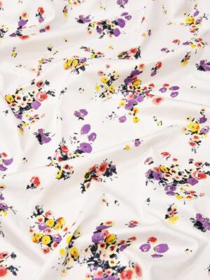 Хлопок стрейч с мелкими акварельными цветочками (4324) - Фото 17